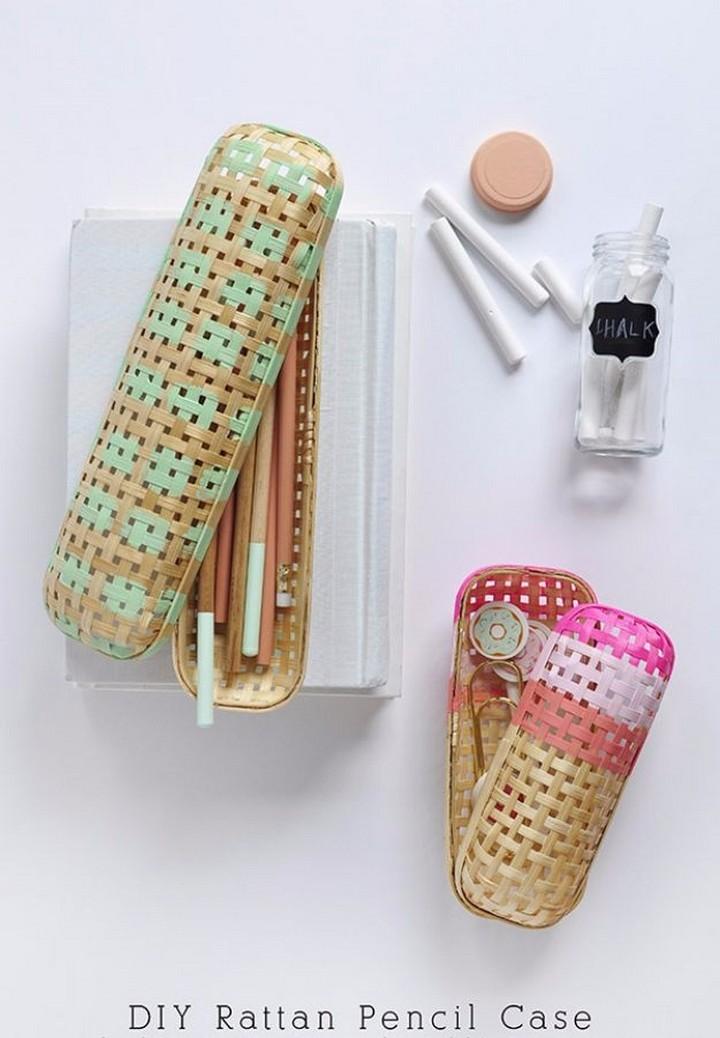 How To Make DIY Rattan Pencil Case