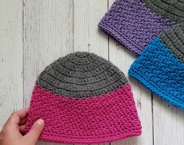 How To Make Knitted Beanie Crochet Hat Pattern