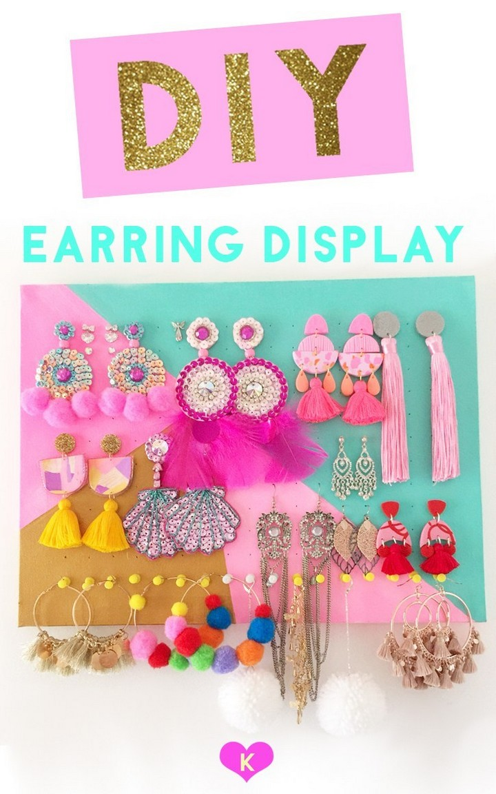 How To Make an Earring Holder Display