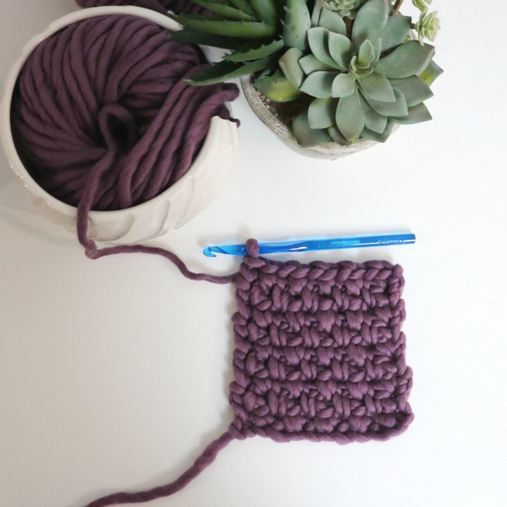 How to Crochet The Moss Stitch Tutorial