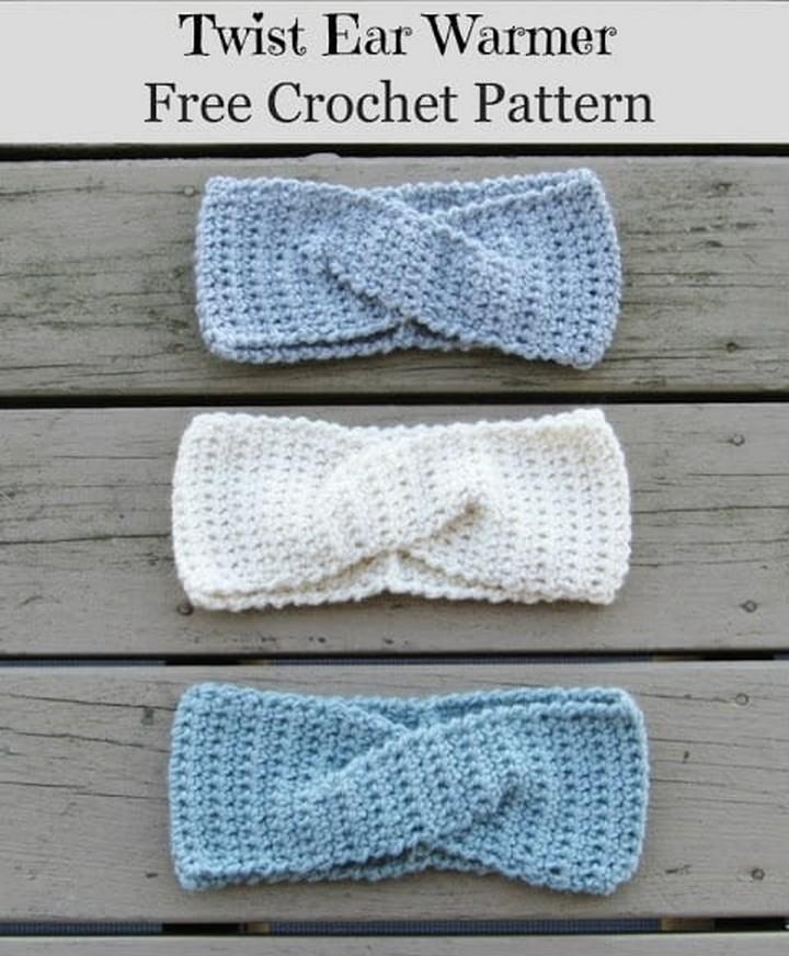 How to Crochet a Quick Twist Headband or Earwarmer