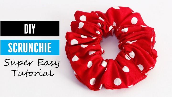 How to Make a Scrunchie DIY Scrunchie Tutorial