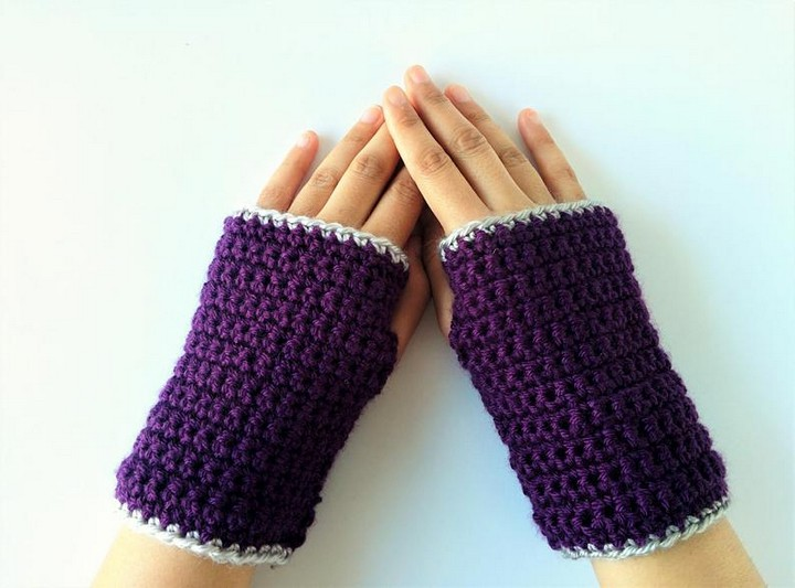 Knitted Handmade Gloves For Her Gift For MomWith Wrist Warmer Pattern