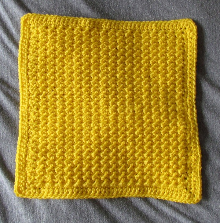 Moss Stich Afghan Square Free Crochet Pattern
