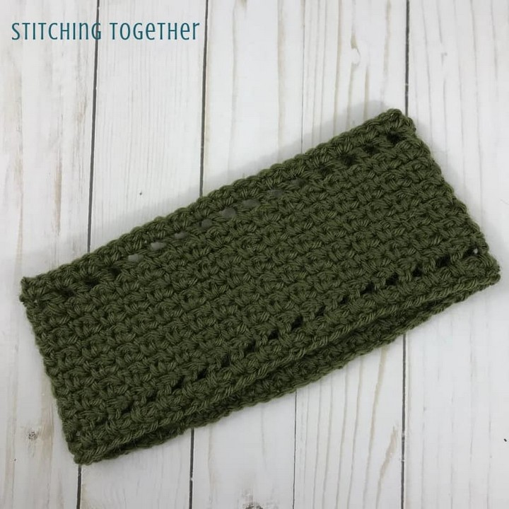 Moss Stitch Ear Warmer Tutorial