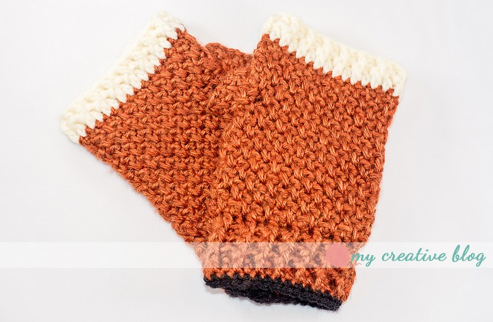 Moss Stitch Fingerless Glove Crochet Pattern