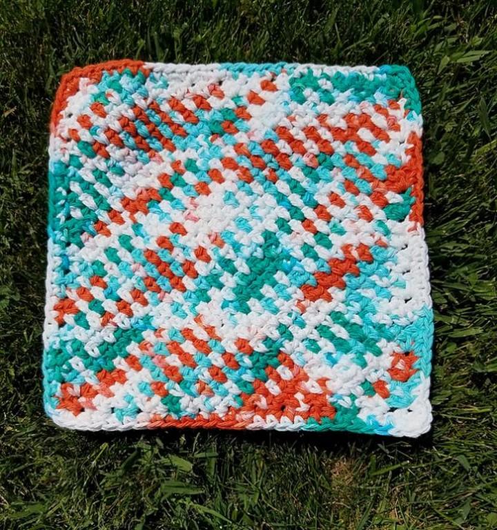 Moss Stitch Washcloth Free Crochet Pattern