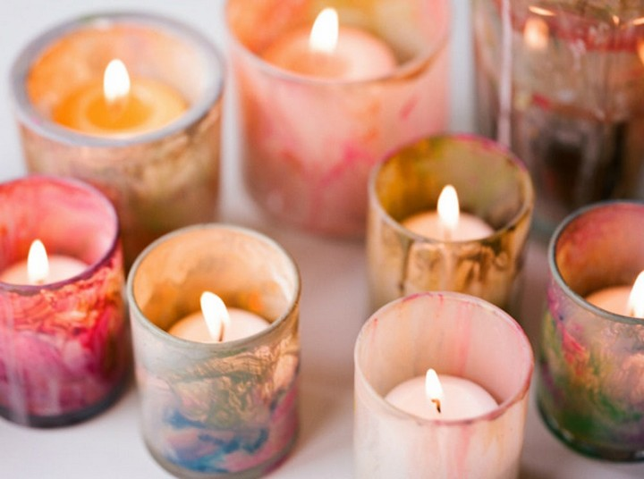 Painting Votives DIY Candle Stick Holders