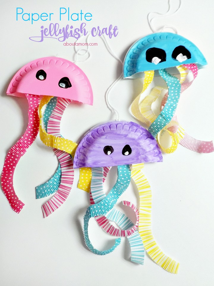 Paper Plate Jellyfish Craft DIY