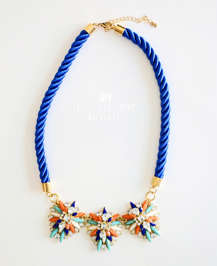 Quick DIY Statement Necklace for Beginners