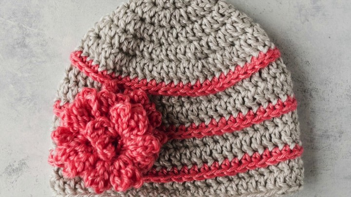 Quick and Easy Crochet Flower Hat Tutorial