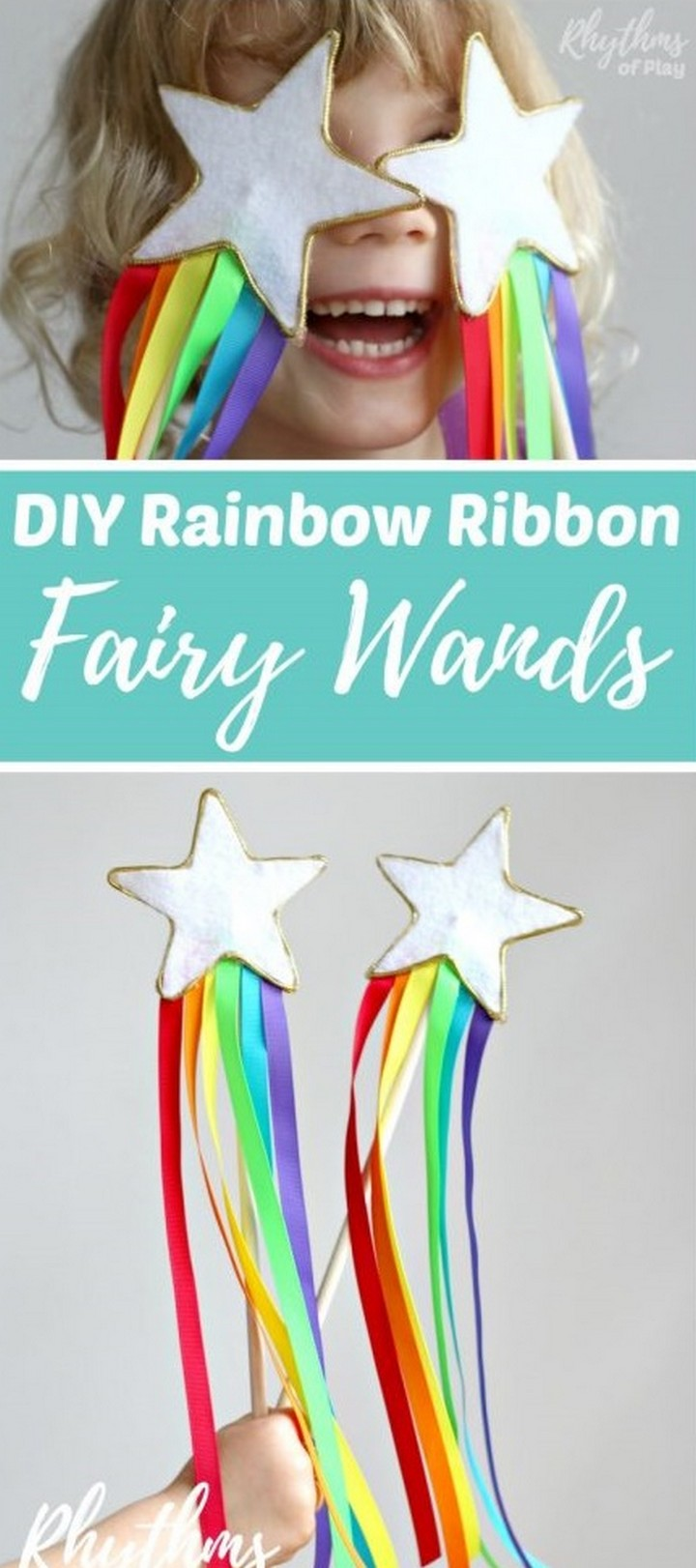 Rainbow Ribbon Magic Wand DIY Toy for Kids