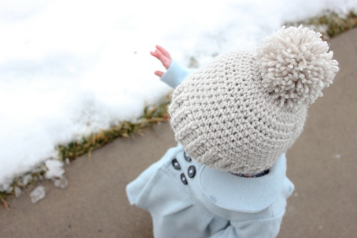Ribbed Beanie Crochet Hat Pattern For KIds