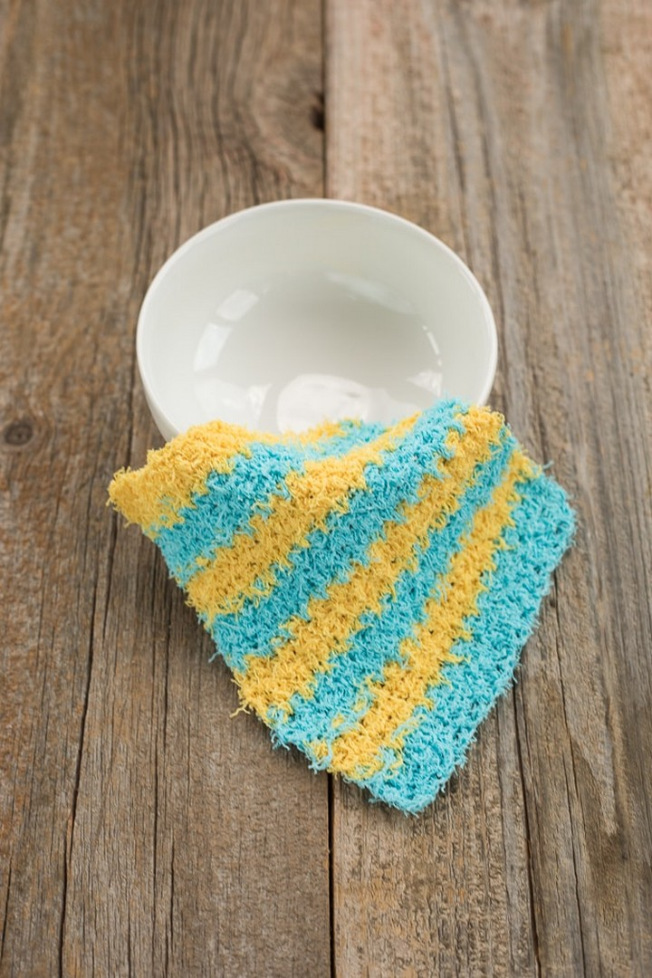 Scrubby Moss Stitch Crochet Dishcloth Tutorial