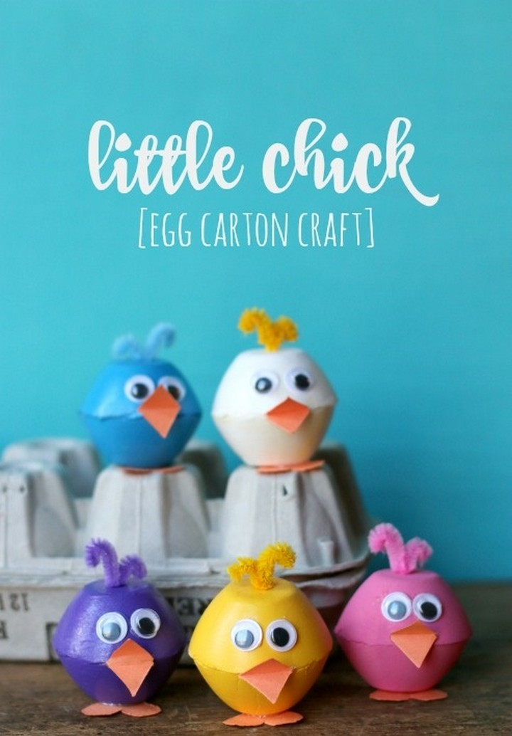 Simple To Make Little Chick Egg Carton Craft