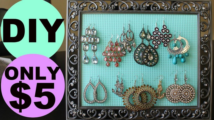 Simple and Easy DIY Earring Holder