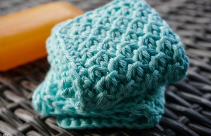 Small Face Cloth Free Crochet Pattern