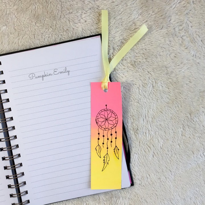 Unique Easy DIY Printable Bookmark With Ribbon