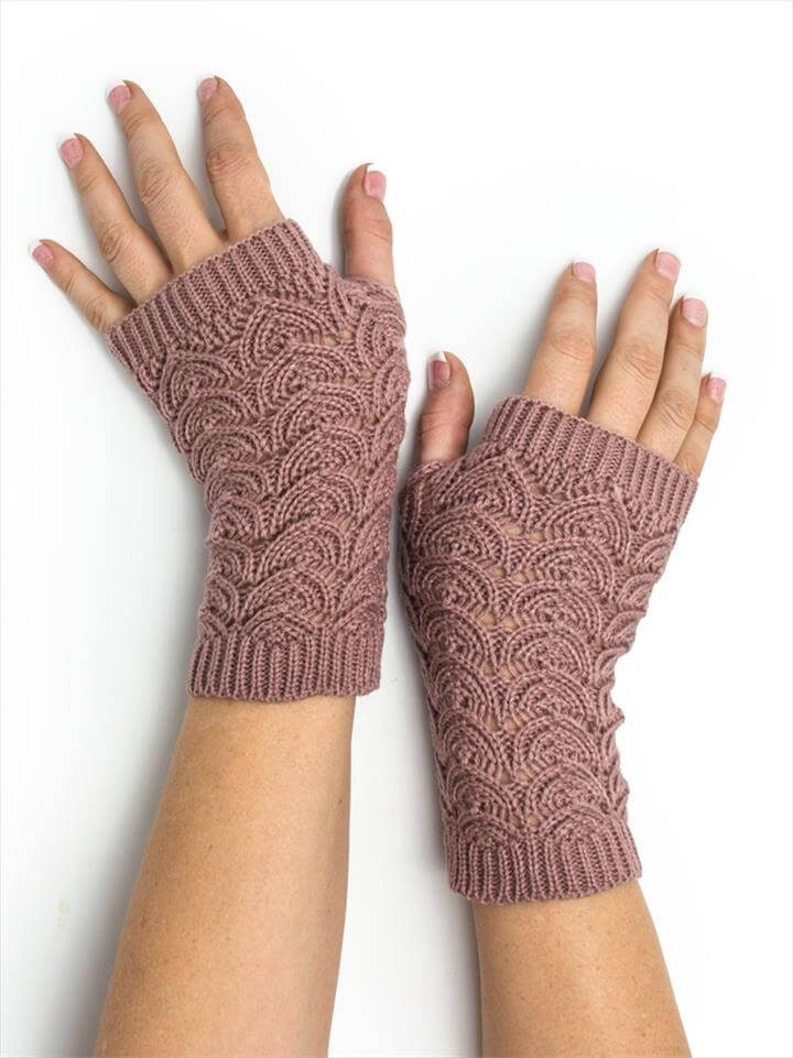 Women Crochet Fingerless Gloves For Winter