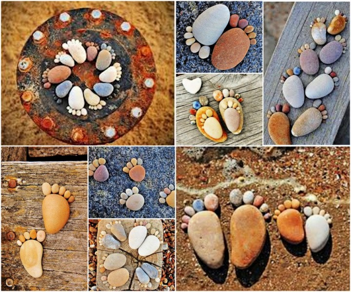 You will love this rock foot prints