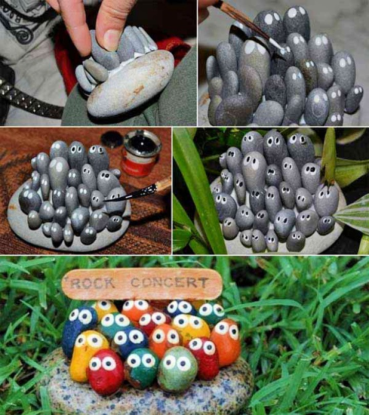 kid's Rock Stone Art Project Garden Ideas
