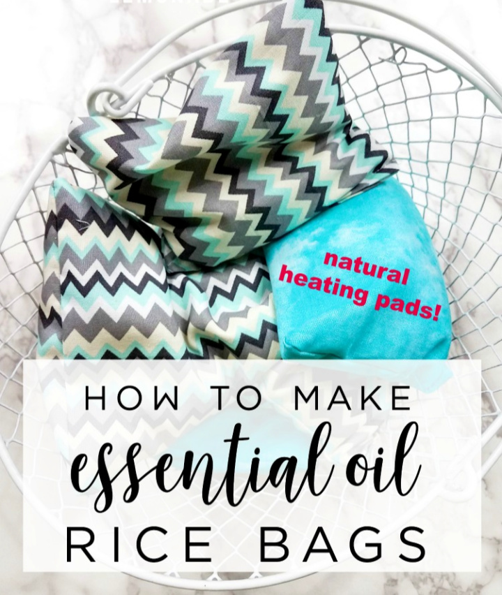DIY Aromatherapy Rice Bags Natural Heating Pads