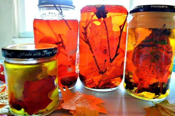 DIY Fall Sensory Jars For Kis Activity