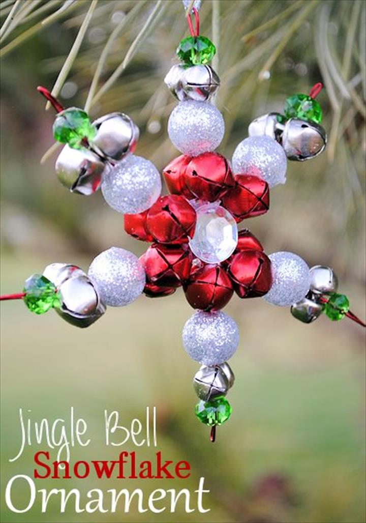 DIY Snowflake Ornament With Jingle Bells