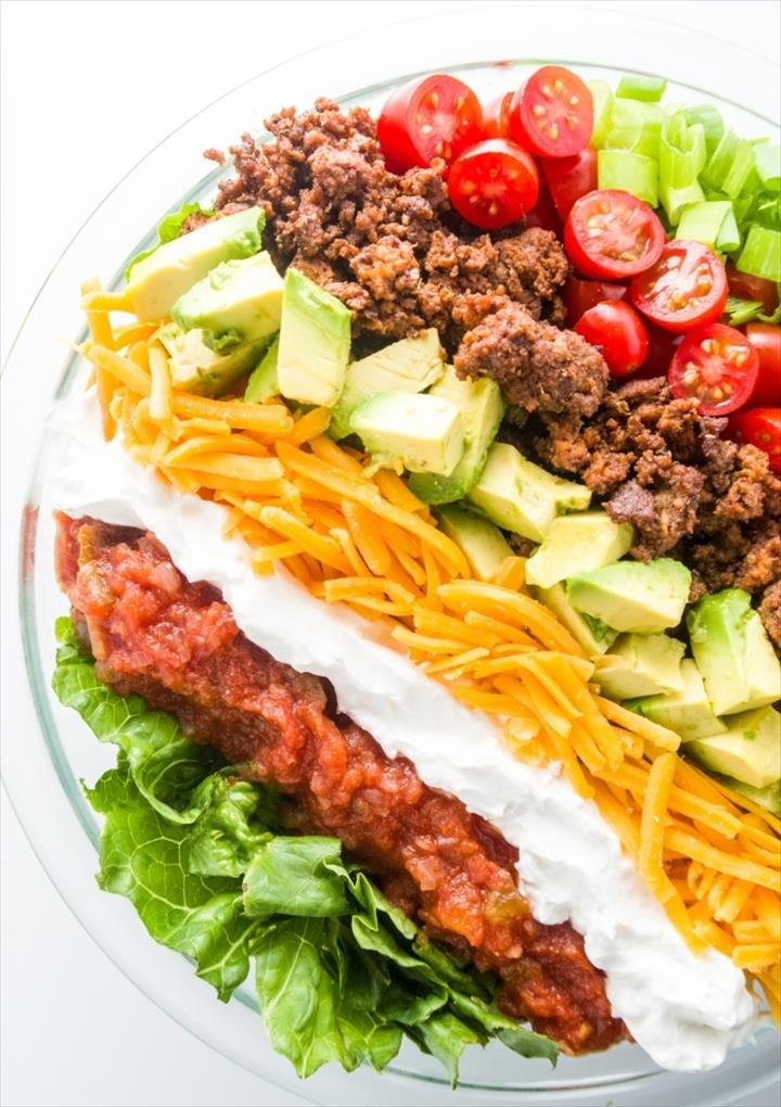 Delicious Healthy Taco Salad Recepie With Beef