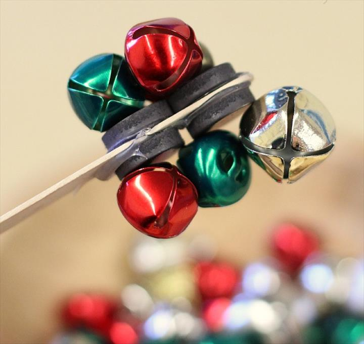 Homemade Magnetic Wand Made With Jingle Bells