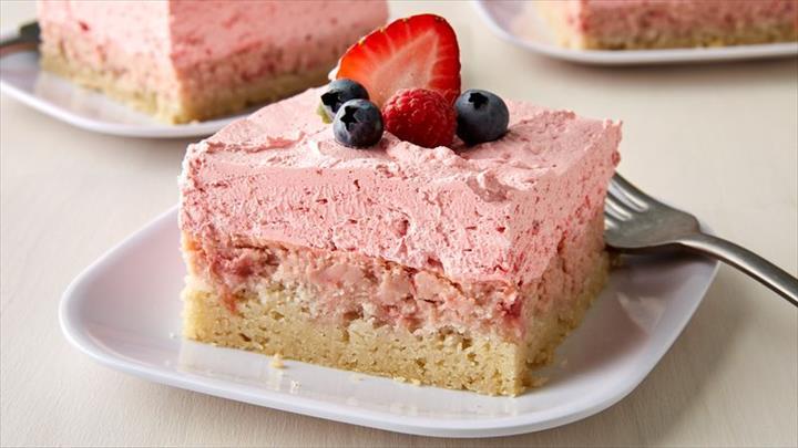 How To Make Strawberry Dessert Squares