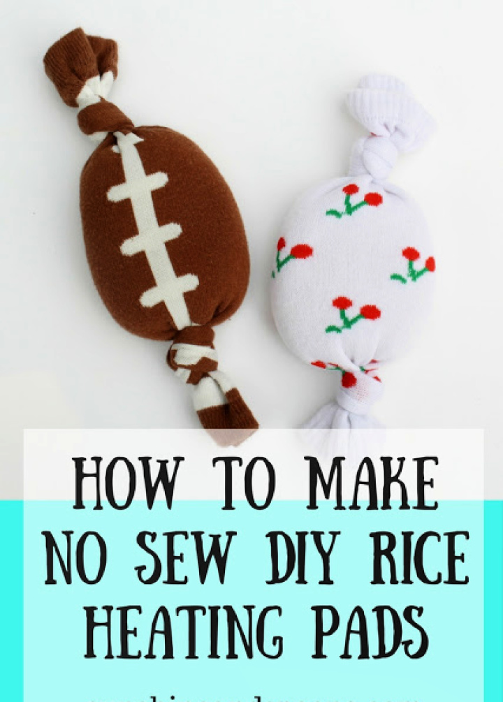 How to Make No Sew DIY Rice Heating Pads