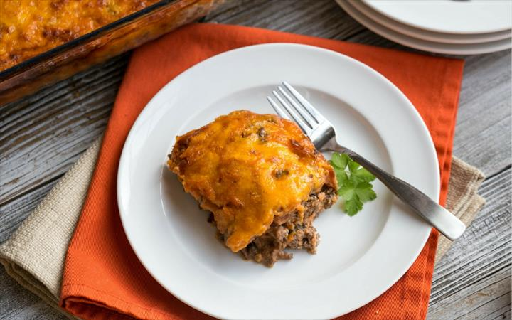 Meaty Casserole Humbuger Recepie For Sweet Guests