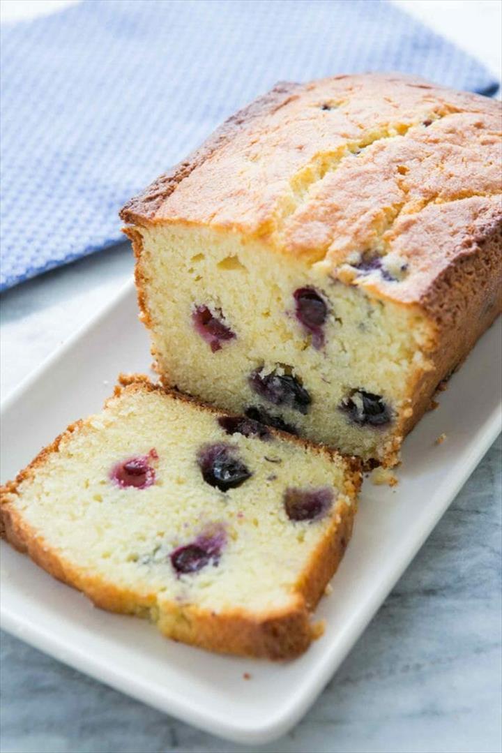 Pound Cake With Ricotta Blueberry