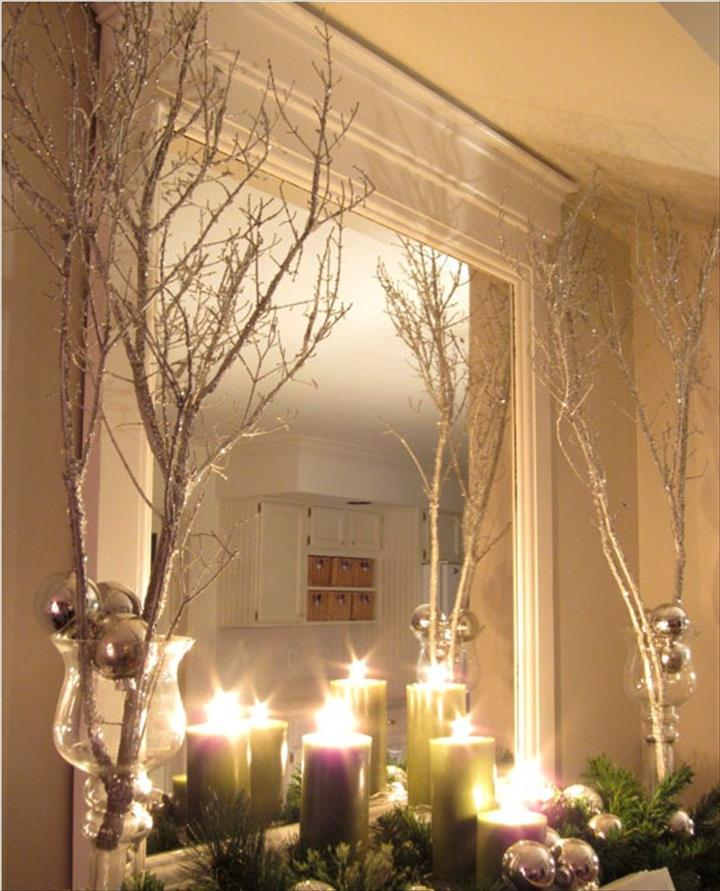 Sparkly DIY Spray Branches With Jingle BELLS