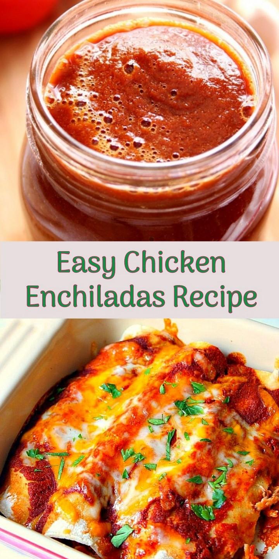 Easy Chicken Enchiladas Recipe 1