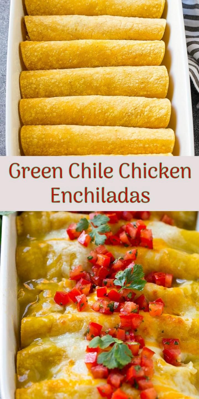Green Chile Chicken Enchiladas 1