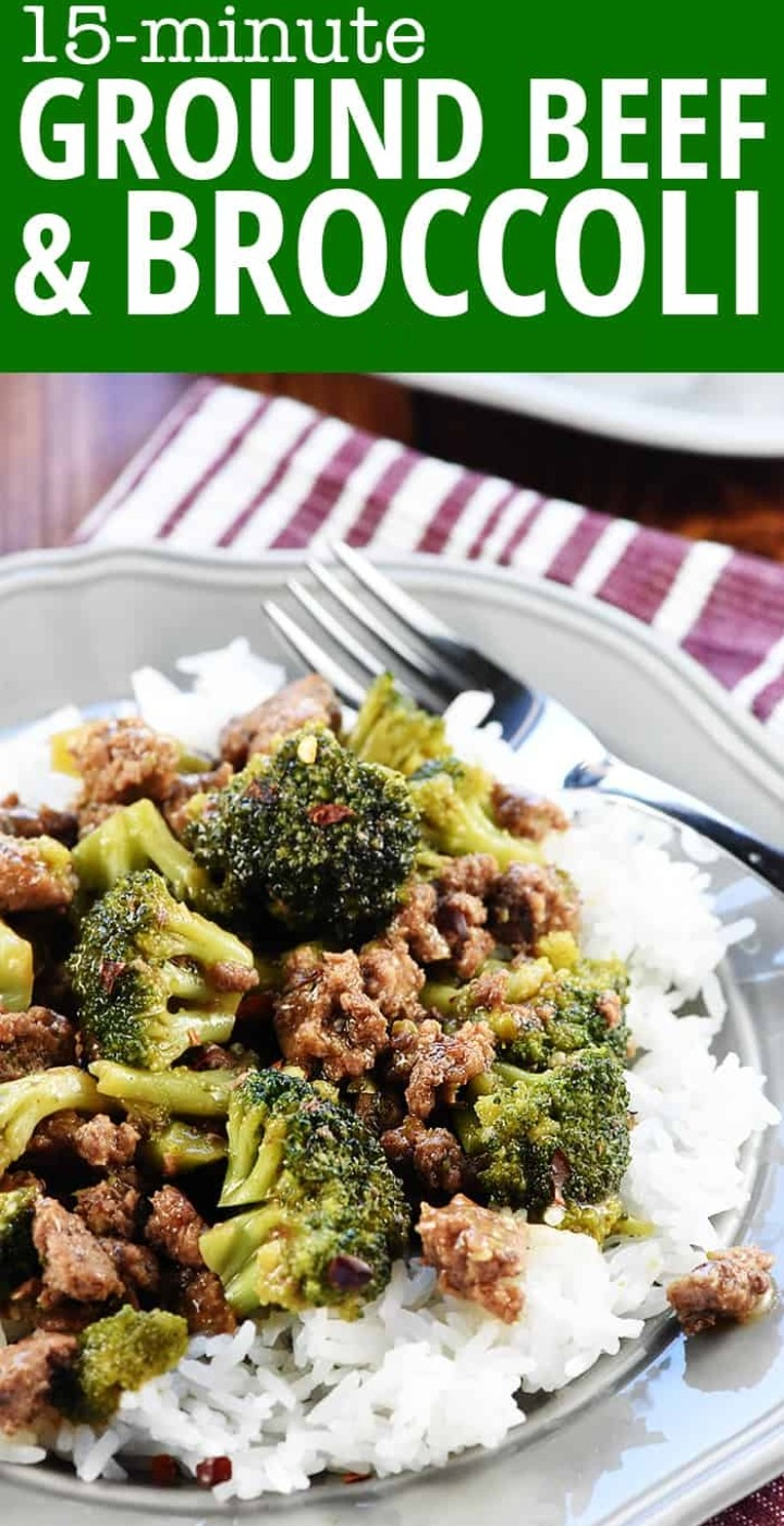 15 Minute Ground Beef Broccoli