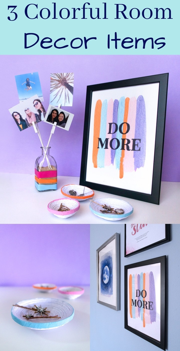 3 Colorful Room Decor Items