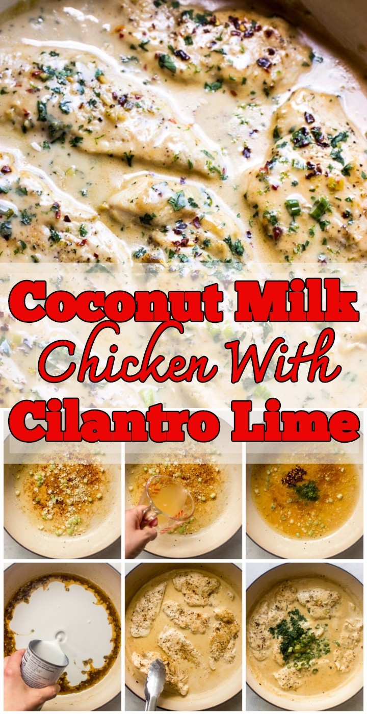 Coconut Milk Chicken With Cilantro Lime