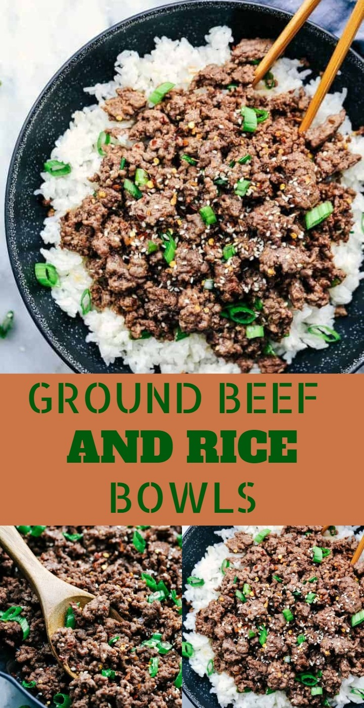 Ground Beef And Rice Bowls