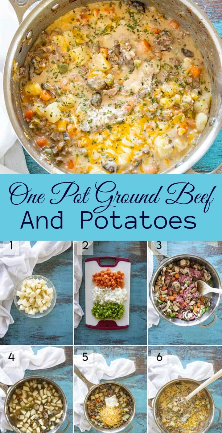 One Pot Ground Beef And Potatoes