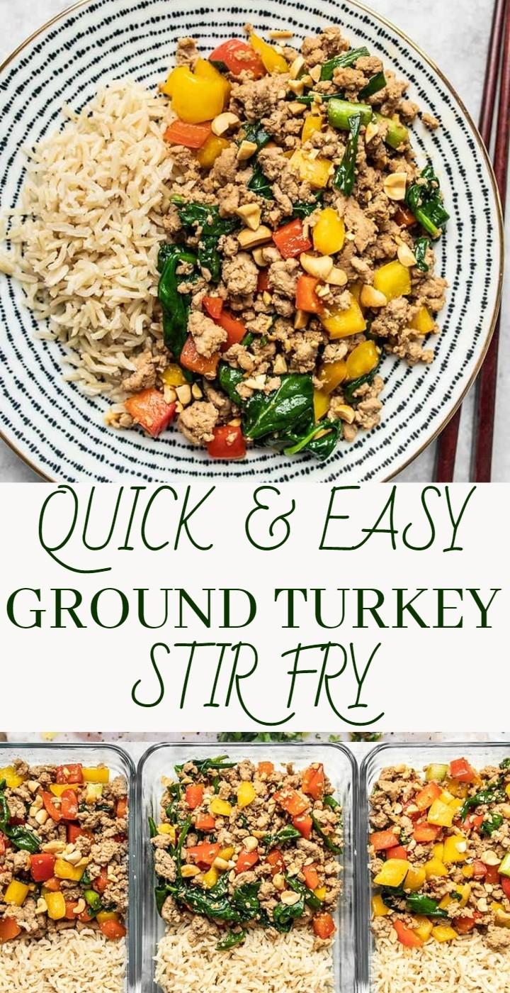 Quick Easy Ground Turkey Stir Fry