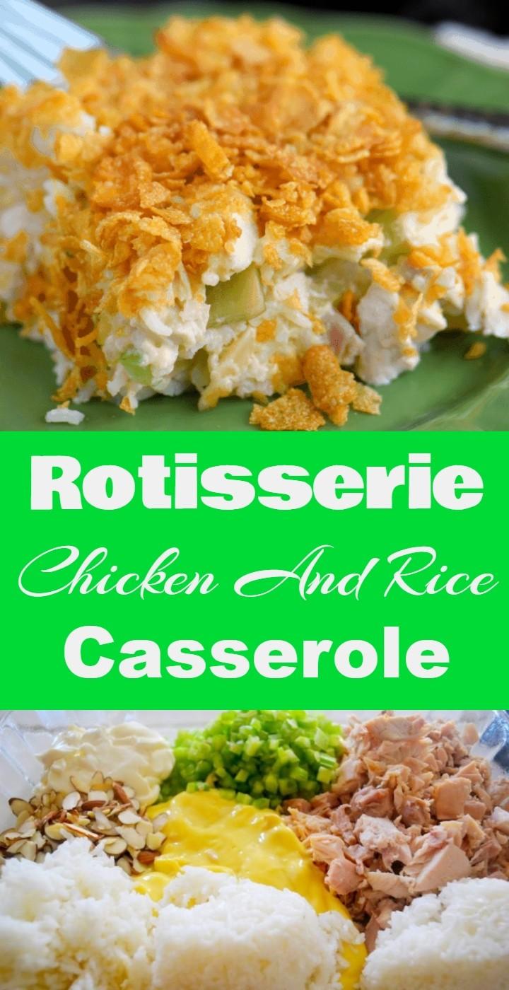 Rotisserie Chicken And Rice Casserole