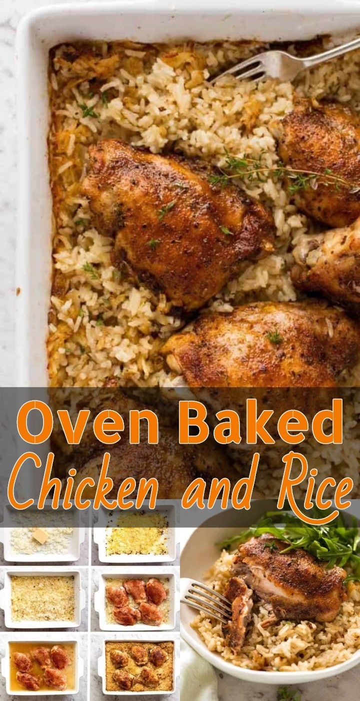 Best Oven Baked Chicken and Rice 1