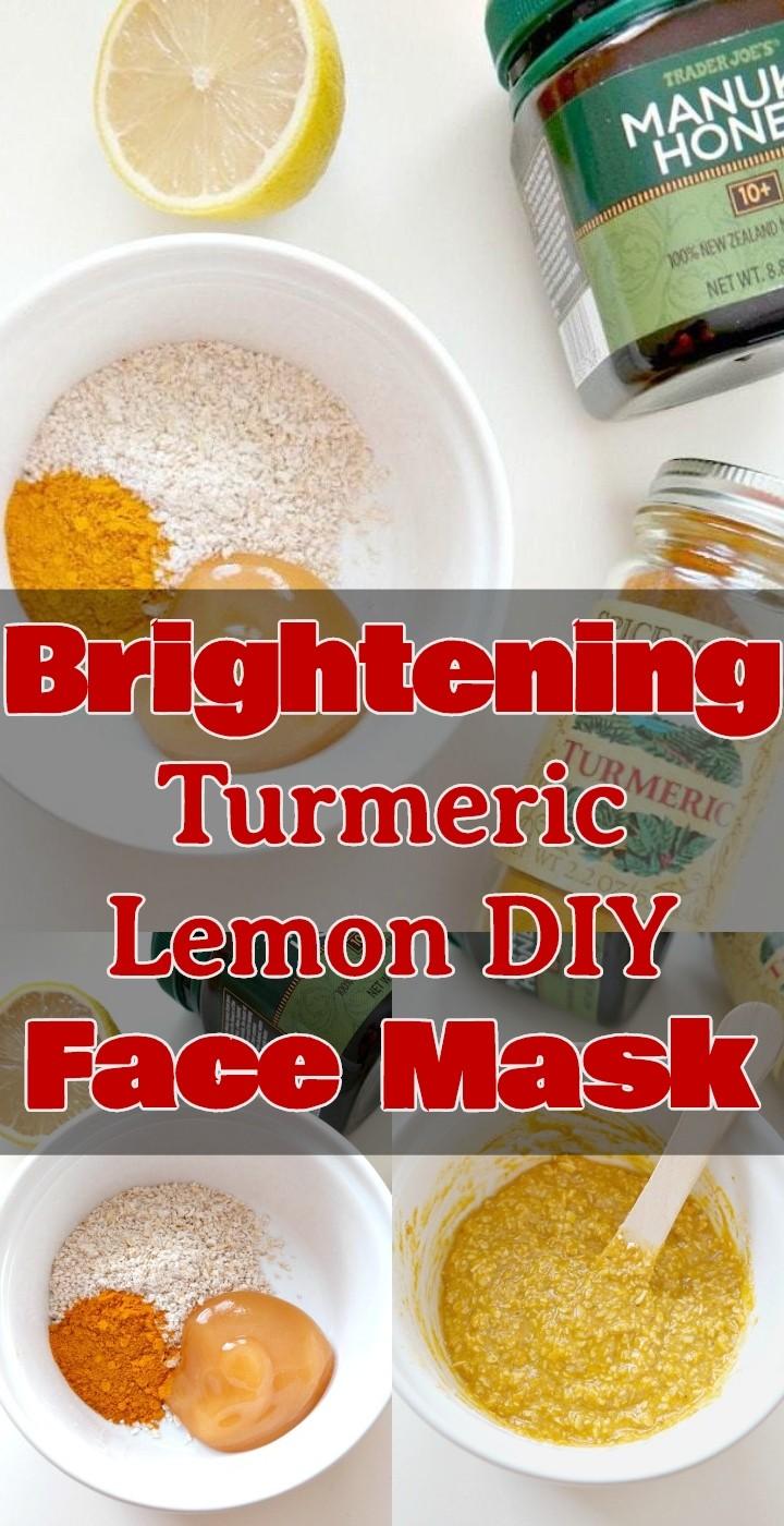 Brightening Turmeric Lemon DIY Face Mask