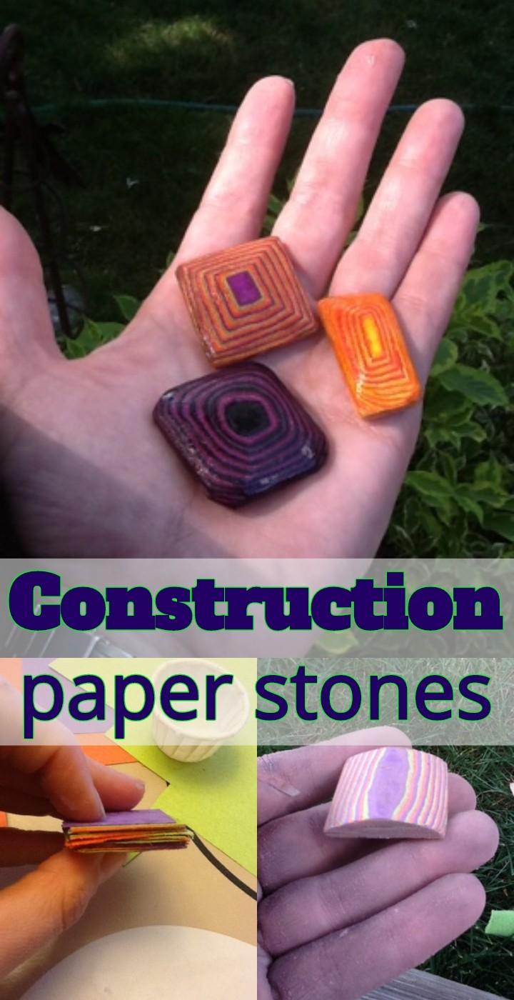 Construction Paper Stones