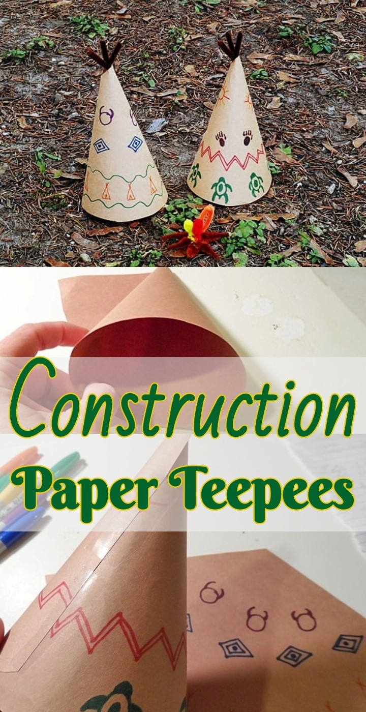 Construction Paper Teepees