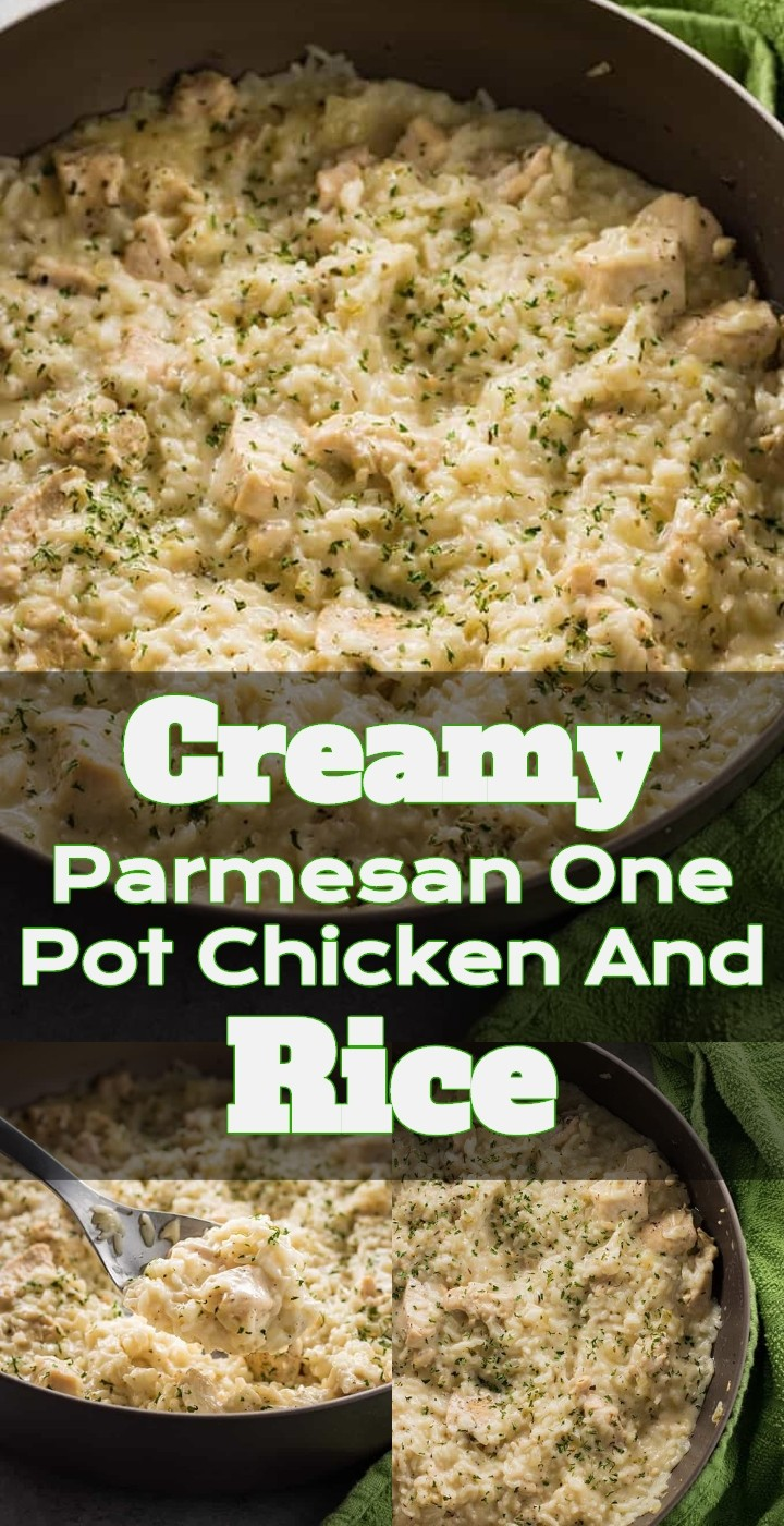Creamy Parmesan One Pot Chicken And Rice 1