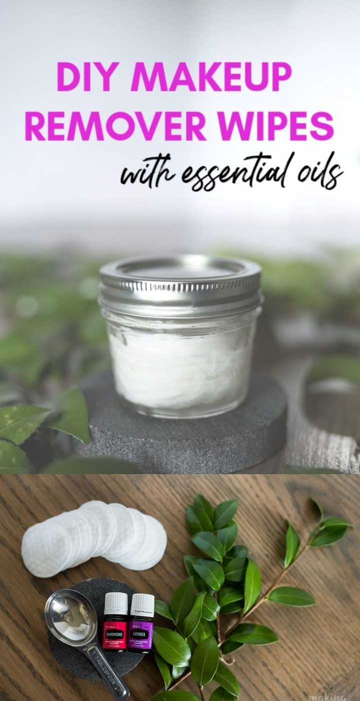 DIY All Natural Makeup Remover Wipes